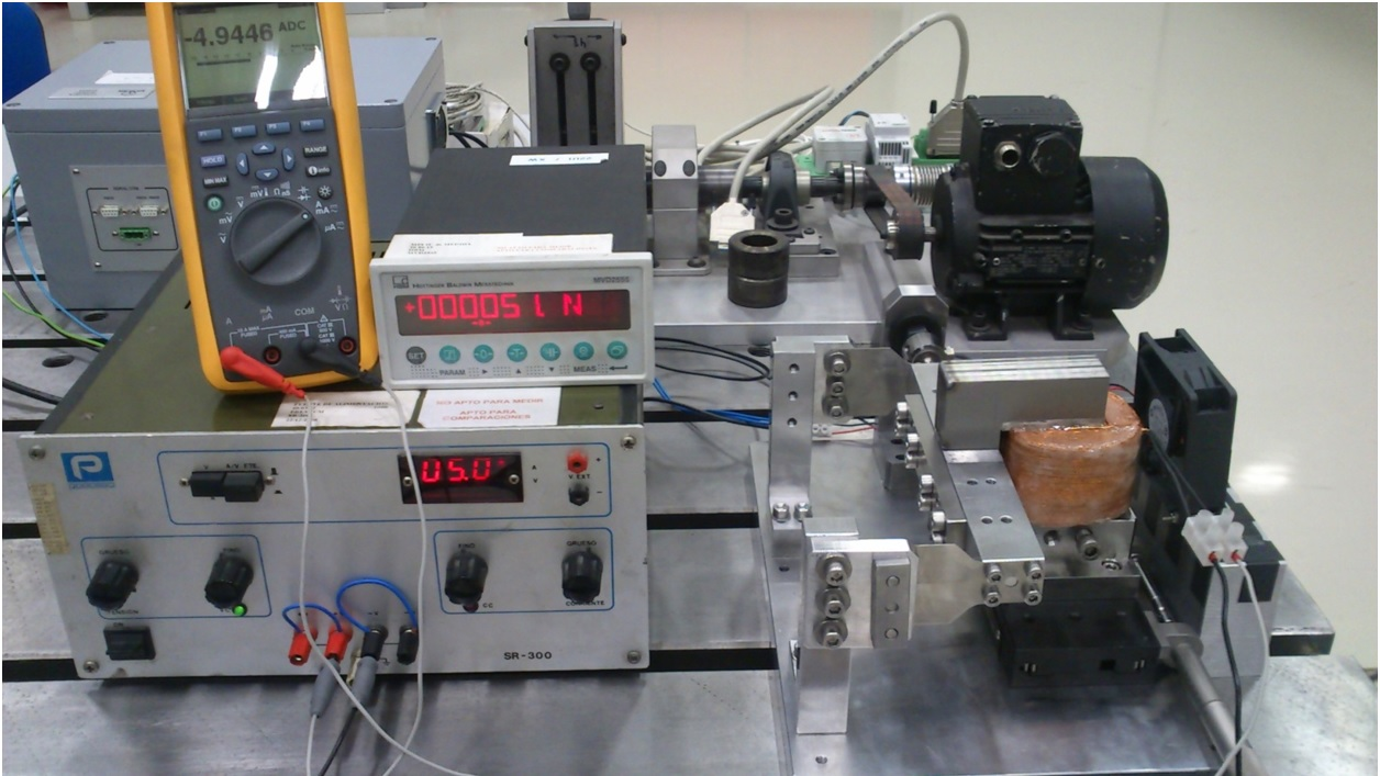 Thermal tests at partial test-bench carried out